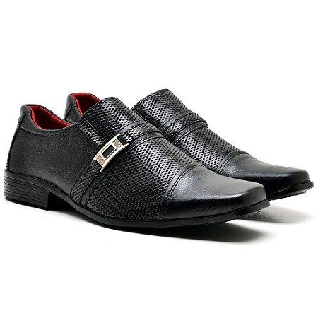Sapato social couro legitimo estampado