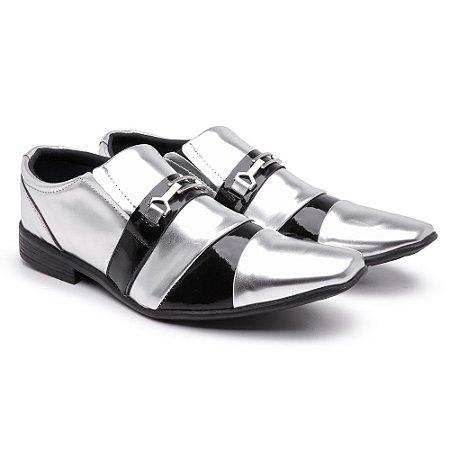 Sapato social Prata bico fino lazer