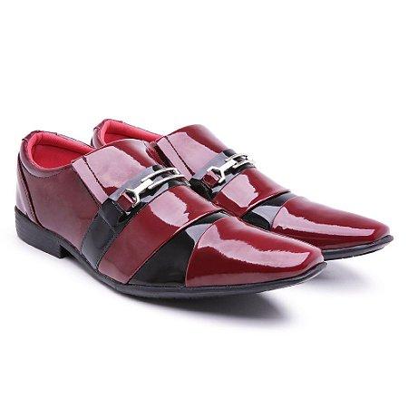 Sapato social  lazer Veniz Vermelho-Preto