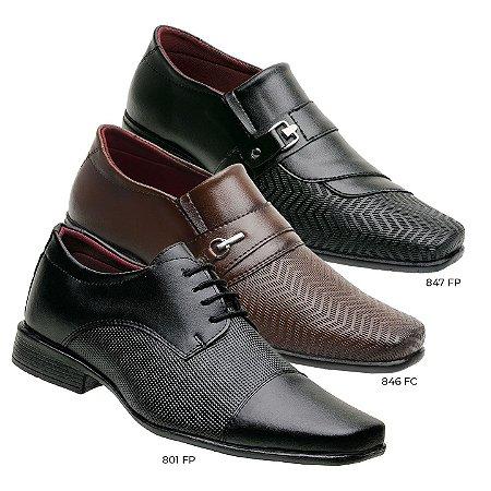 Kit 3 pares de sapato social