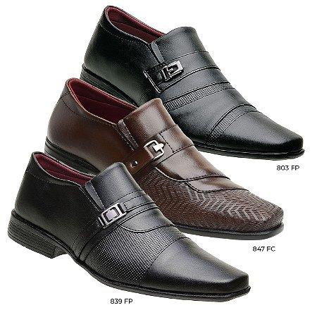Kit 3 pares de sapato social masculino