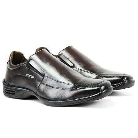 Sapato Social Confort Bico Quadrado Liso Anti Stress