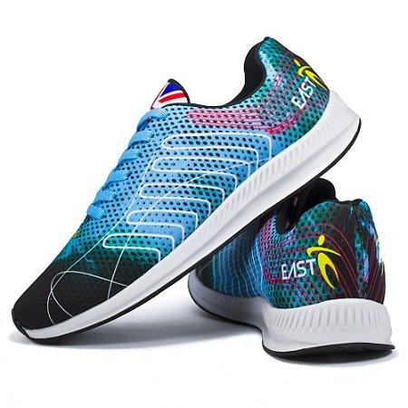 Tênis Esporte East Shoes Cronos Azul Ciano