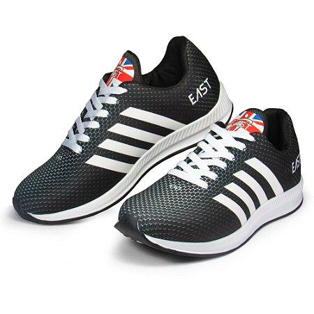 Tênis Esporte East Shoes Taurus Preto E Branco
