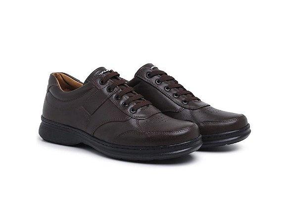 Sapato Masculino Conforto Anti- Stress De Calce Fácil Café
