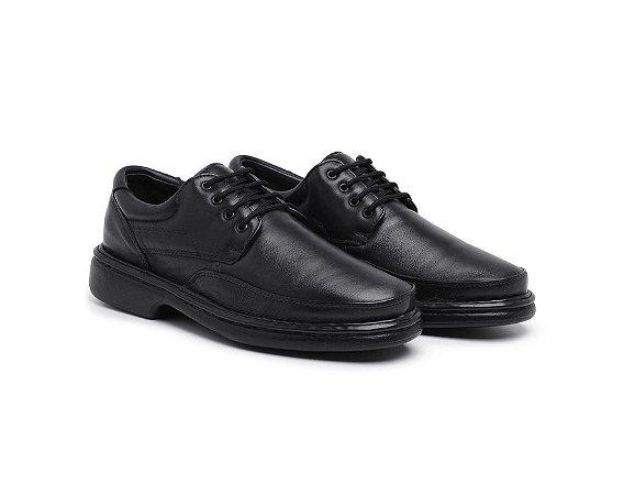Sapato Masculino Confort De Amarrar Preto