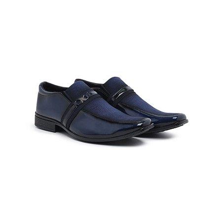 Sapato Social Verniz Urban Azul Masculino