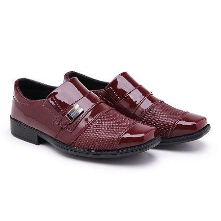 Sapato Social Masculino Infantil Vermelho