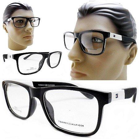 35de31c9cac33 Armação Oculos Para Grau Masculino Preto Receituario Grande acetato Da Moda