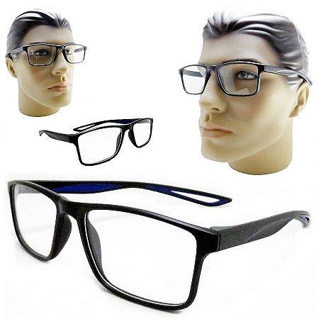 1267f24f79f Armação Oculos Para Grau Masculino ZR302 Quadrado Acetato Preto Com  Vendedor Mercadolivre
