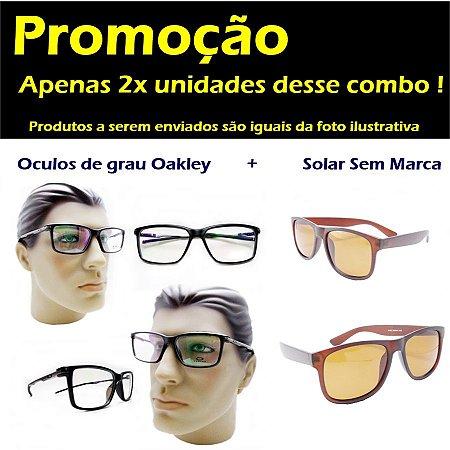 7893abc655ebc Armação oculos para grau masculino oakley 3188 esportivo moderno ...