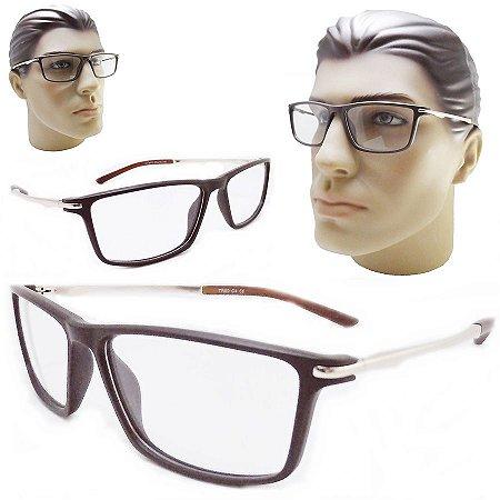 bf7a3e6f8e8b1 Armação para oculos de grau masculino esportivo acetato marrom ...