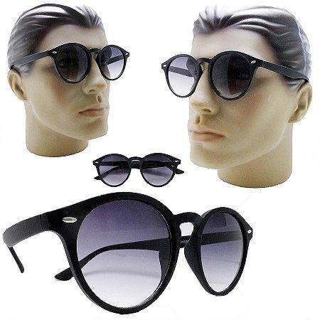a1ffa89f8e7c7 Oculos De Sol Redondo Retro Vintage Grande Lente Degrade - Óculos ...