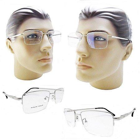 54a7fa2f32afd Armação oculos para grau titanio masculino leve flexivel - Óculos ...