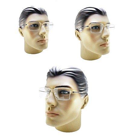 456f9c9ef823a Armação oculos para grau dourado com fio de nylon feminino masculino ...