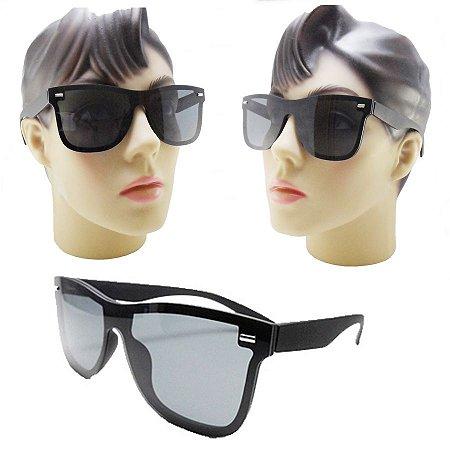 83d78d274f8a4 Oculos De Sol Feminino Quadrado Preto Tipo Mascara Com Proteção UV Barato