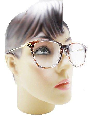 e04c4f15f9f10 Armação Oculos Para Grau Feminino Acetato Moderna Estilosa 2018