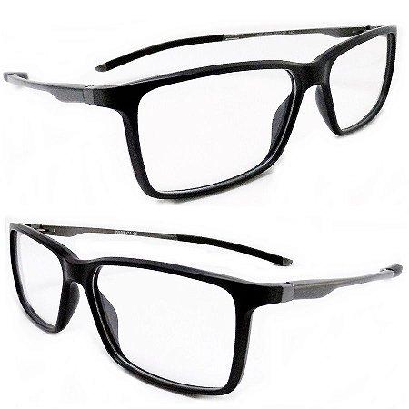 edd953b36a9e6 Armação oculos para grau masculino preto moderno 35C2