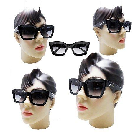 a96b54e34734c Oculos De Sol Feminino Grande Quadrado degrade Moda 2018 - Óculos ...