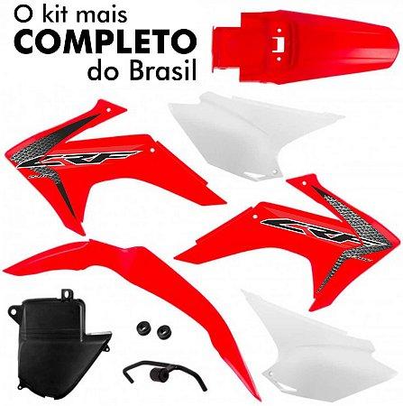 Kit Plástico Protork Vermelho Crf 230 2015 - 2018 C/ Adesivo
