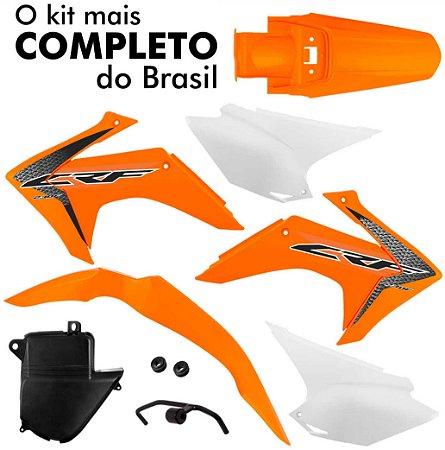 Kit Plástico Protork Laranja Crf 230 2015 - 2018 C/ Adesivo