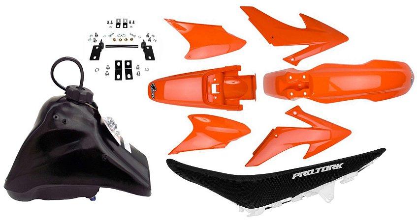 Kit Crf 230 2014 Ufo Laranja Adaptável Xr 200 Tornado