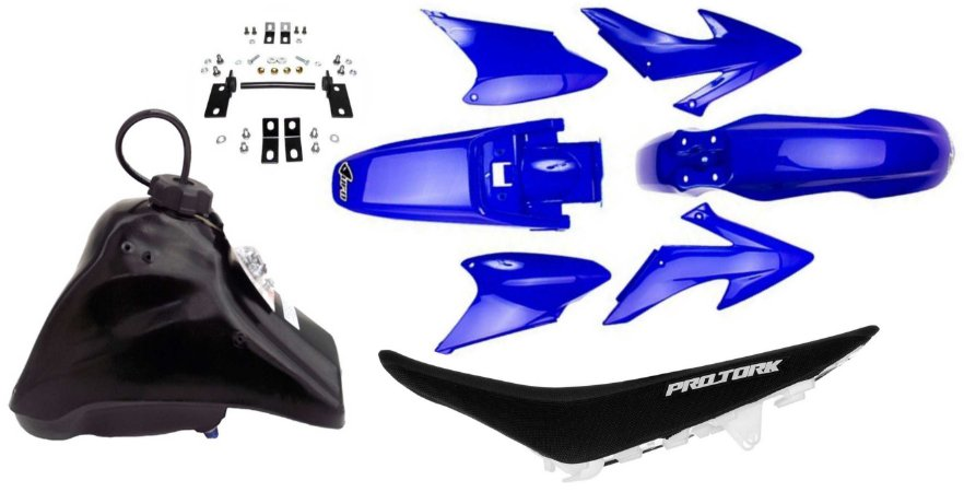 Kit Crf 230 2014 Ufo Azul Adaptável Xr 200 Tornado