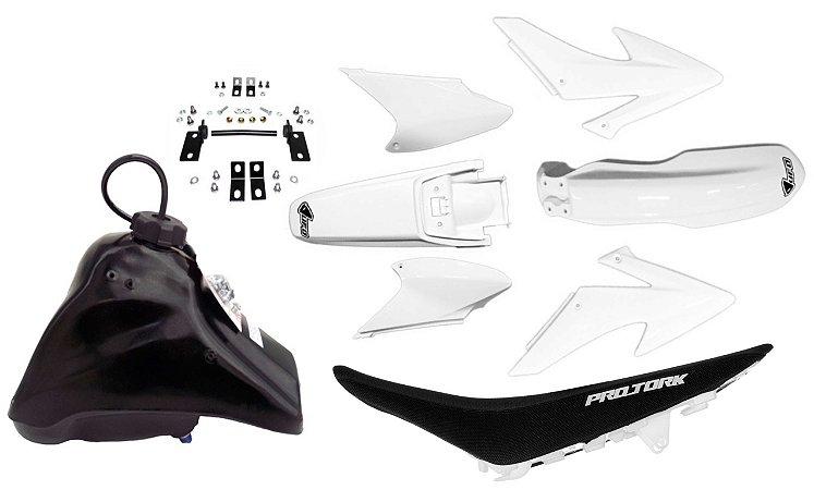 Kit Crf 230 2014 Ufo Branco Adaptável Xr 200 Tornado