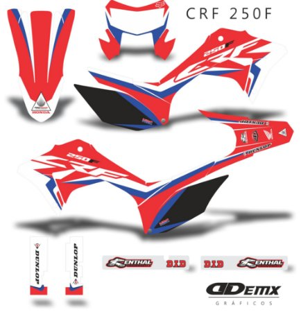 Kit Adesivo 3M HRC Red Crf 250F 2019