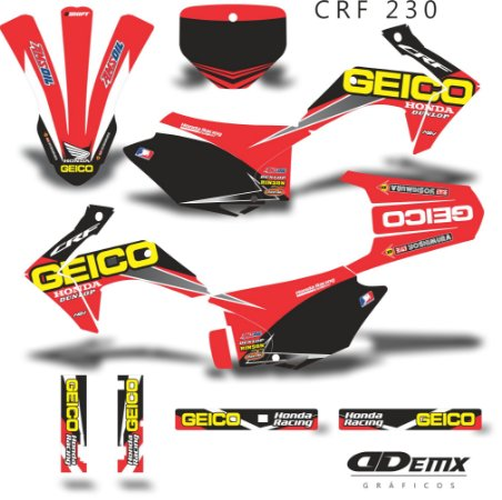 Kit Adesivo 3M Geico Crf 230