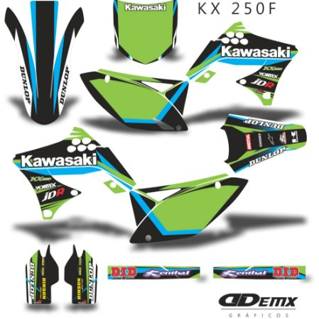 Kit Adesivo 3M Green BlUe Kxf 250 2009 - 2012 S/ Capa de banco