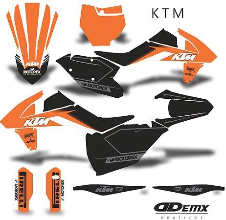 Kit Adesivo 3M ktm black Factory S/ Capa de banco
