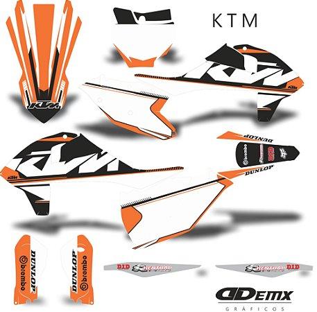 Kit Adesivo 3M ktm Black Full