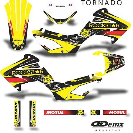 Kit Adesivo 3M tornado TERROR HONDA S/ Capa de banco