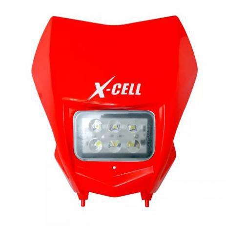 FAROL DE LED X-CELL + CARENAGEM CRF 230 VERMELHO