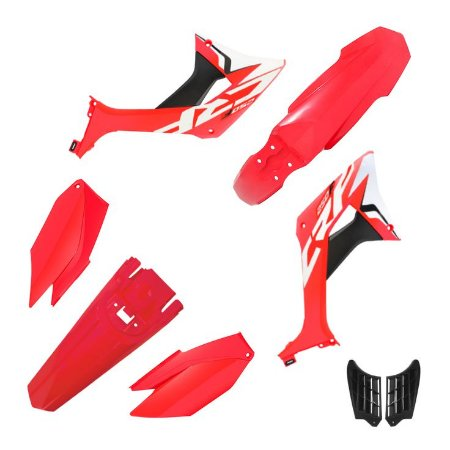 kit plastico crf 250f  Biker evo Vermelho e Vermelho