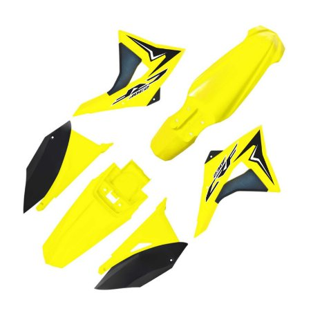 Kit Plástico Crf 230 Elite Biker 2008 - 2018 amarelo neon