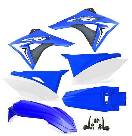 Kit Plástico Crf 230 Elite Biker 2008 - 2018 azul/branco