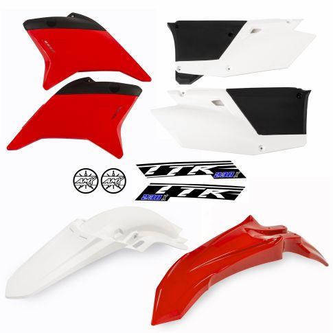 Kit plástico TTR 230 vermelho lateral branca