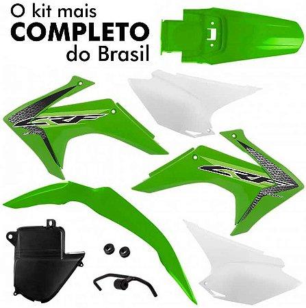 Kit Plástico CRF 230 2008 Até 2018 Pro Tork Verde