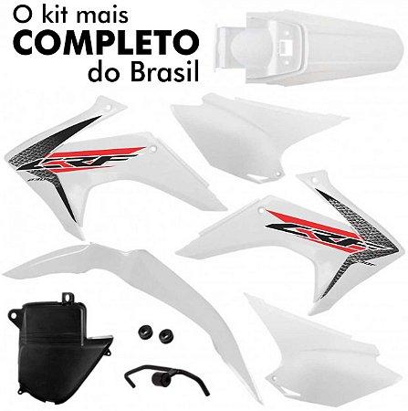 Kit Plástico CRF 230 2008 Até 2018 Pro Tork Branco
