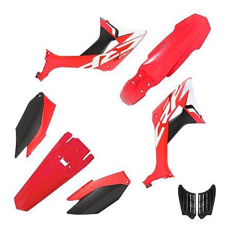 kit plastico crf 250f Biker evo Vermelho e Preto
