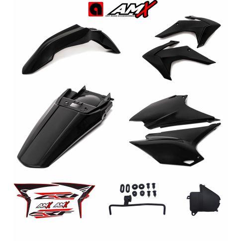 Kit plastico amx crf 230 Preto