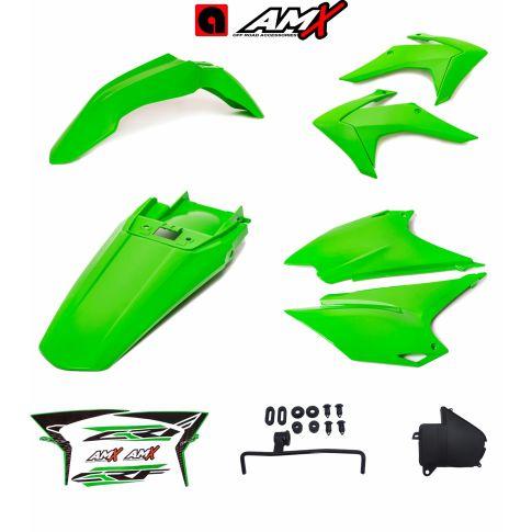 Kit plastico amx crf 230 Verde