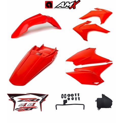 Kit plastico amx crf 230 Vermelho