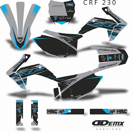 Kit Adesivo 3M  HRC PRO GREY Crf 230