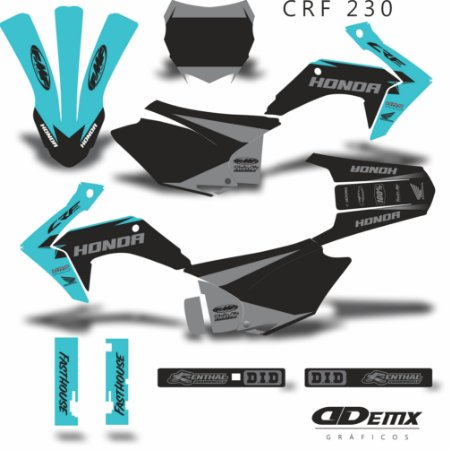 Kit Adesivo 3M - KIT fast house fmf three CRF 230