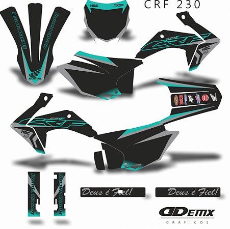 Kit Adesivo 3M -  KIT HRC NEON GREY CRF 230