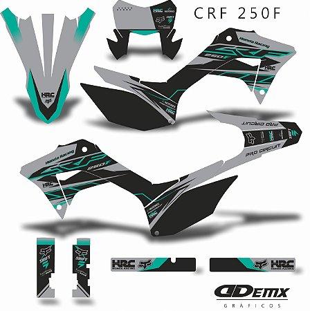 Kit Adesivo 3M  PRO GRAY Crf 250F 2019