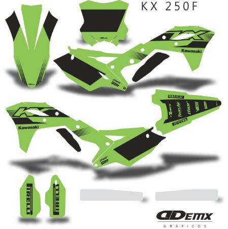 Kit Adesivo 3M GREEN AND BLACK Kxf 250